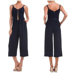 New Trina Turk Cloud Culotte Jumpsuit Navy 12